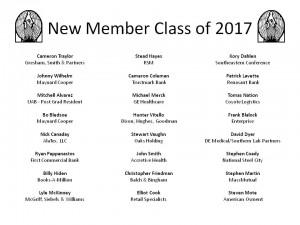 New Member Class of 2017